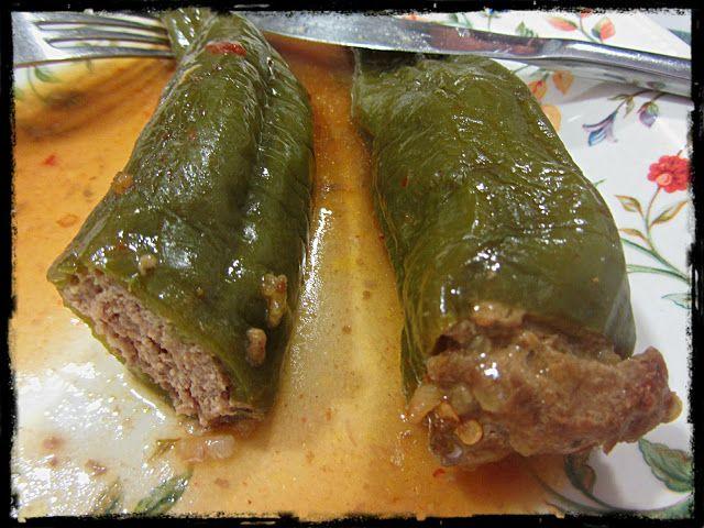 El Puchero de Morguix: Pimientos italianos rellenos de carne