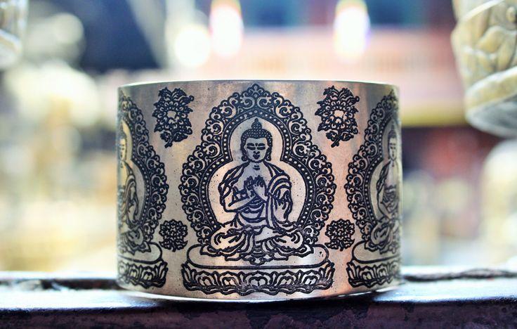 Buddha bracelet , Buddha cuff bracelet, Yoga bracelet, Boho Bracelet, Tibetan…