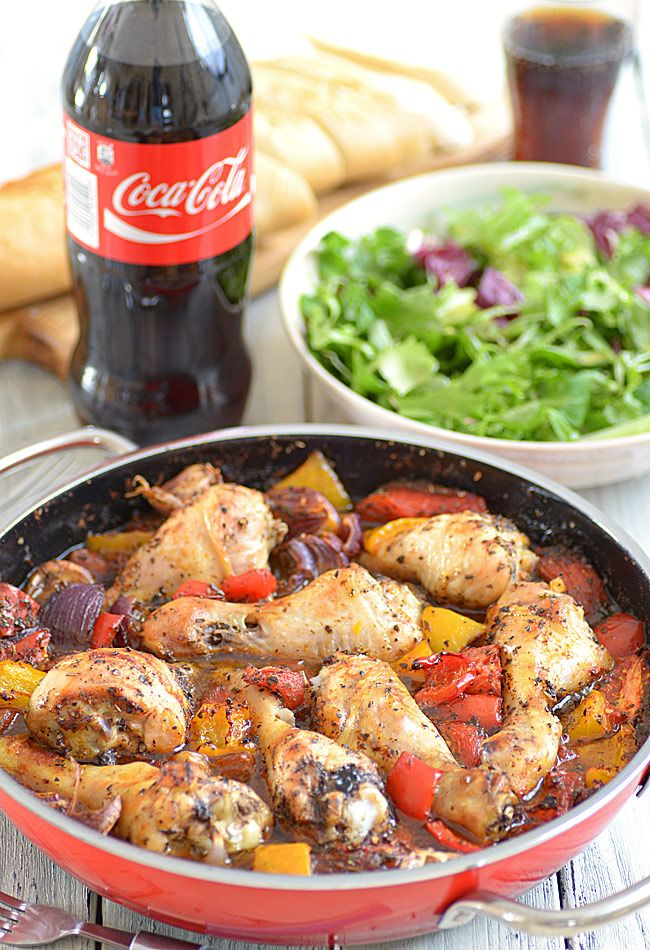 """Zapiekane udka z kurczaka z warzywami, inspirowane pomysłem Jamiego Olivera z książki """"Gotuj sprytnie jak Jamie"""""""