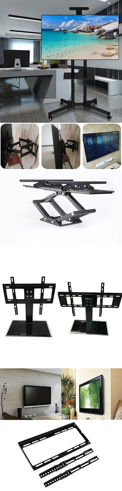 TV Mounts and Brackets: Universal Tabletop Tv Stand Pedestal Base Swivel Wall Mount For 10-65 Tvs Lot Zn BUY IT NOW ONLY: $67.0