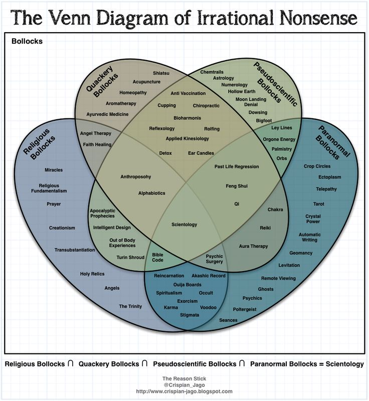 "The Venn Diagram of Irrational Nonsense A.K.A. How To Start An Argument Anywhere, Any Time With Any One."" hahahaha"