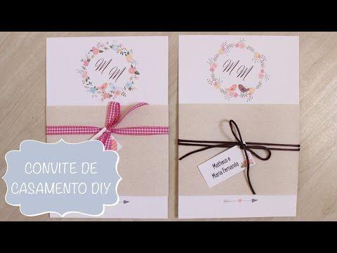 Convite de Casamento Rústico para Imprimir