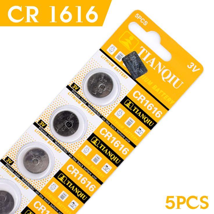 Barato de la fábrica 2-Day-Promotion2016 NUEVO Para ver 5 Unids 3 V Pilas de botón de Litio Pila de Botón CR1616 DL1616 ECR1616 5021LC BR1616