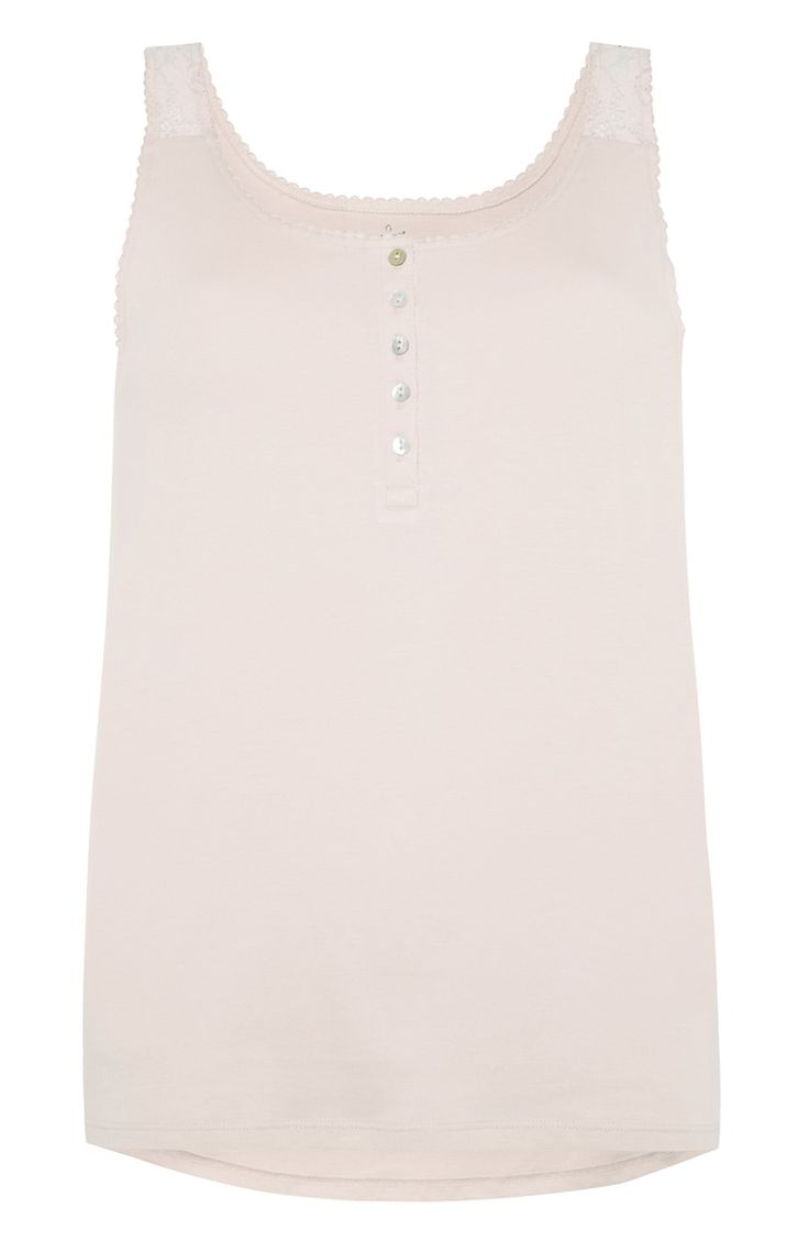 Primark - Pale Pink Button PJ Vest - £3.50