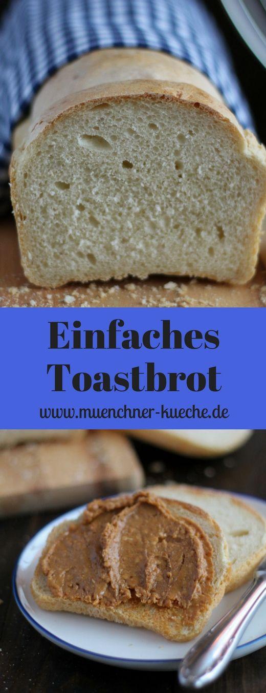 Toastbrot ist ganz einfach selbstgebacken. Hier habt ihr ein schnelles Rezept dafür | www.muenchner-kueche.de #toastbrot #weissbrot #selbstgebacken
