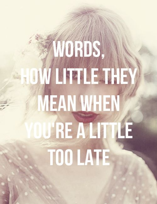 Taylor Swift - Sad Beautiful Tragic. What lyrics!  I appreciate your apology TL but its a little late sweetheart.