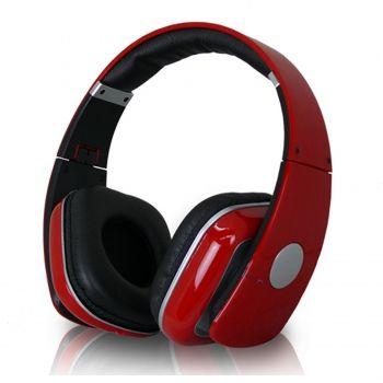 Technical Pro Adjustable headband Professional Headphones- Red - myaccessoryguy