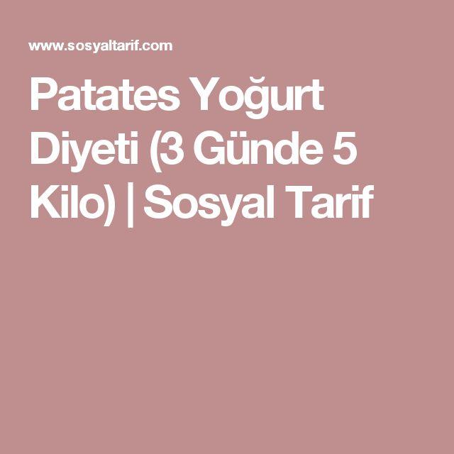 Patates Yoğurt Diyeti (3 Günde 5 Kilo) | Sosyal Tarif