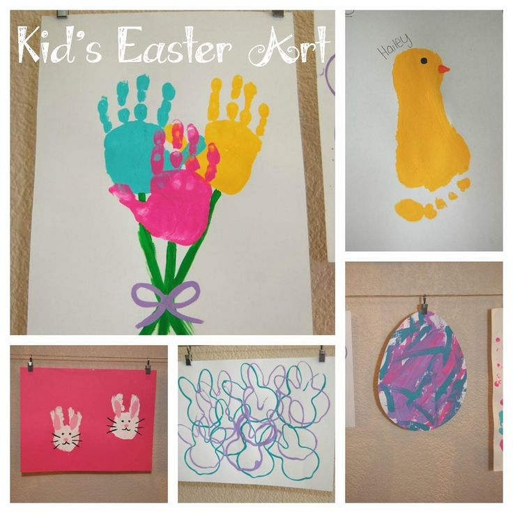 Kid's Easter Art ...repinning this for my sweet friend Jessica!!! (A craft mom at her finest!)