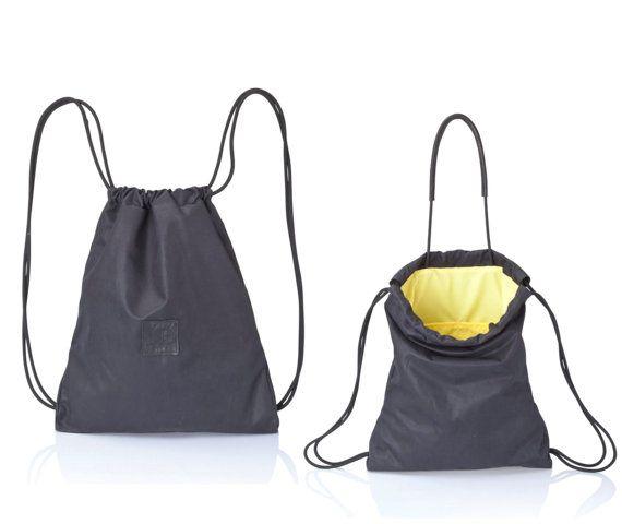 Borsa di tela nera zaino borsa-Multi tela tote borsa di JUDtlv