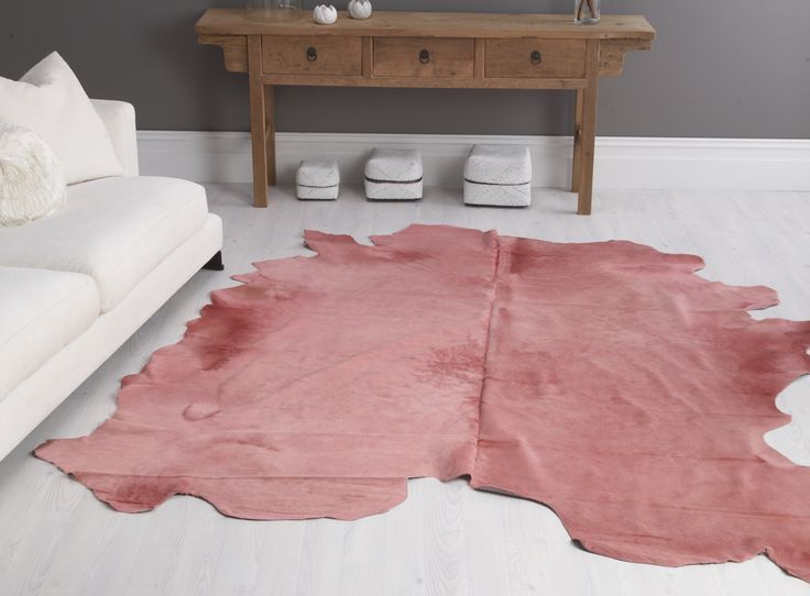 Rose Cow Hide Rug in Large - Zohi Interiors