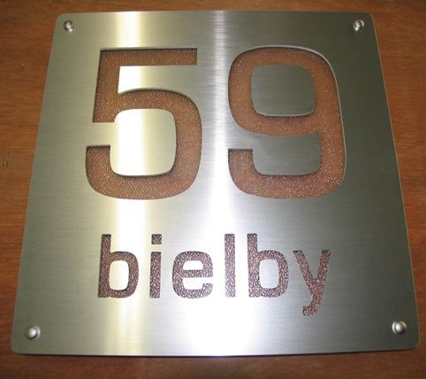 Custom Made House Numbers - Various Styles and Materials Available - Design Your Own. Cut In Aluminium House Number. #numbers1