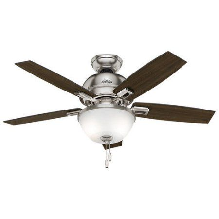 Perfect Hunter in Donegan Brushed Nickel Ceiling Fan with Light Silver