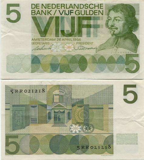 5 gulden - Joost van den Vondel