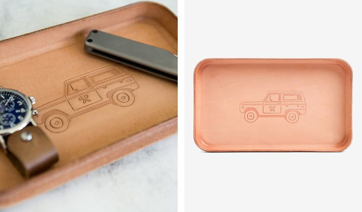 "Billykirk ""BRONCO"" Leather Valet Tray"