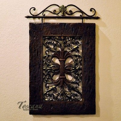 decorative wrought iron & old looking rustic wood - ♥!