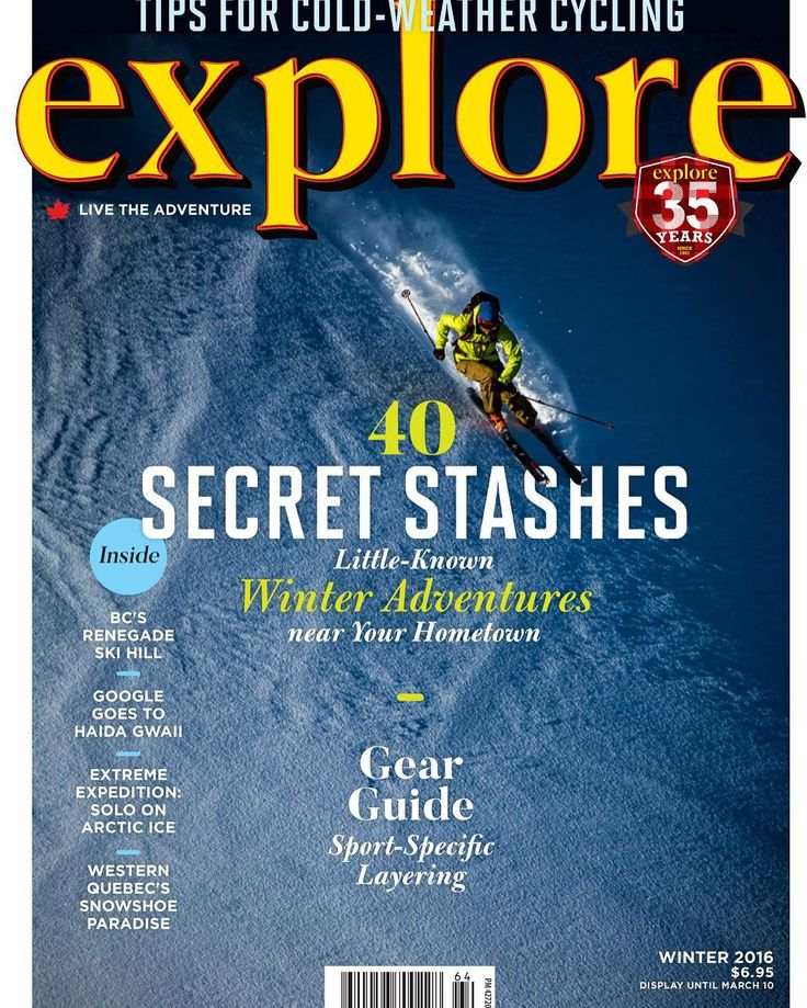 Out this week--our 2016 Winter issue! Get STOKED for snow! #exploremag #explorecanada #exploretheworld