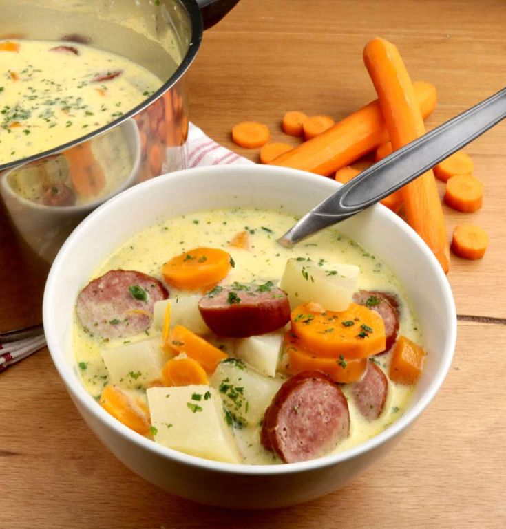 Kohlrabi Karotten Eintopf mit Cabanossi – Andrea Bisinger