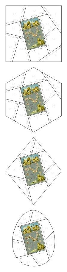Loving Easter Greetings crazy quilt block patterns posted on Janet Stauffacher's Nostalgic NeedleART blog in 2012.