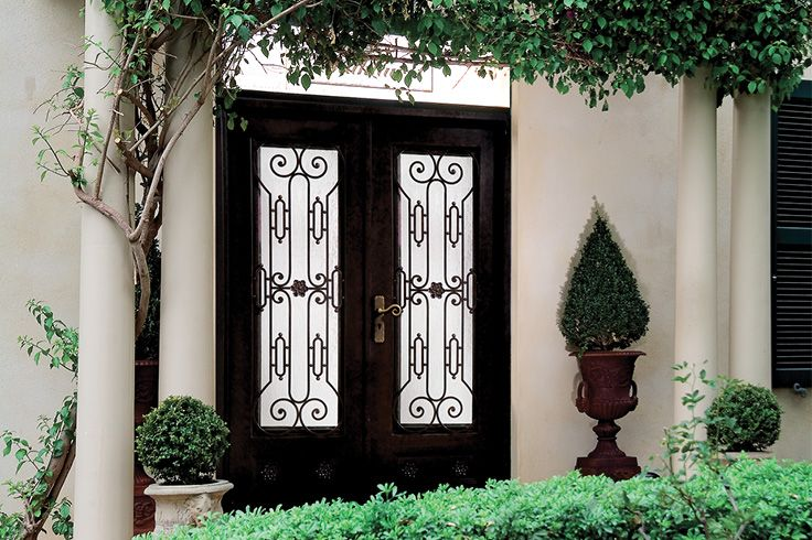 Iron Double Glazed Capri Doors | Luxury Black & Gold Finish Adds Bold Artistry to Modern & Contemporary Homes | Shop huge range of doors & hardware at Schots in Melbourne & Geelong, Australia or online at www.schots.com.au