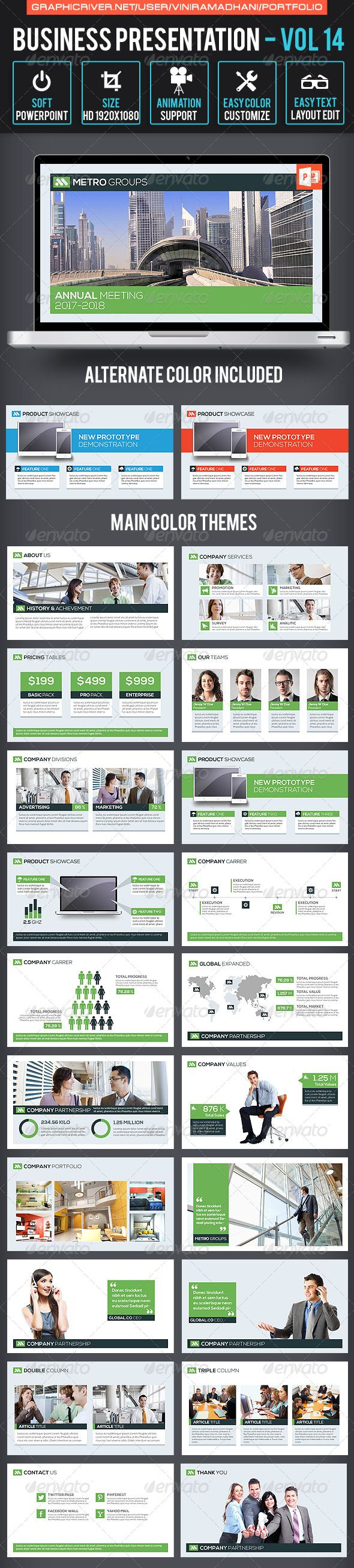 Business Presentation Volume 14 - Business Powerpoint Templates