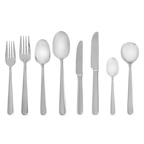 John Lewis Eris Polished Cutlery Set, 58 Piece
