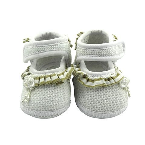 Crystal & Cloth - Signature Baby Shoes - Girls Frill Shoes