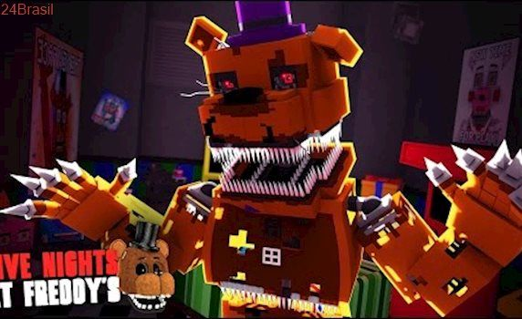 Minecraft: FIVE NIGHTS AT FREDDY'S #42 - ANIMATRONIC NA SALA DE JOGOS!!!