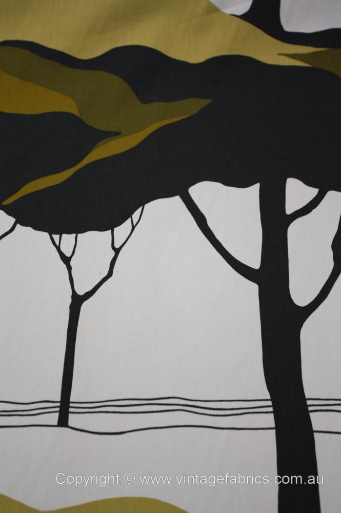 Tampella Apia fabric - vintage trees fabric