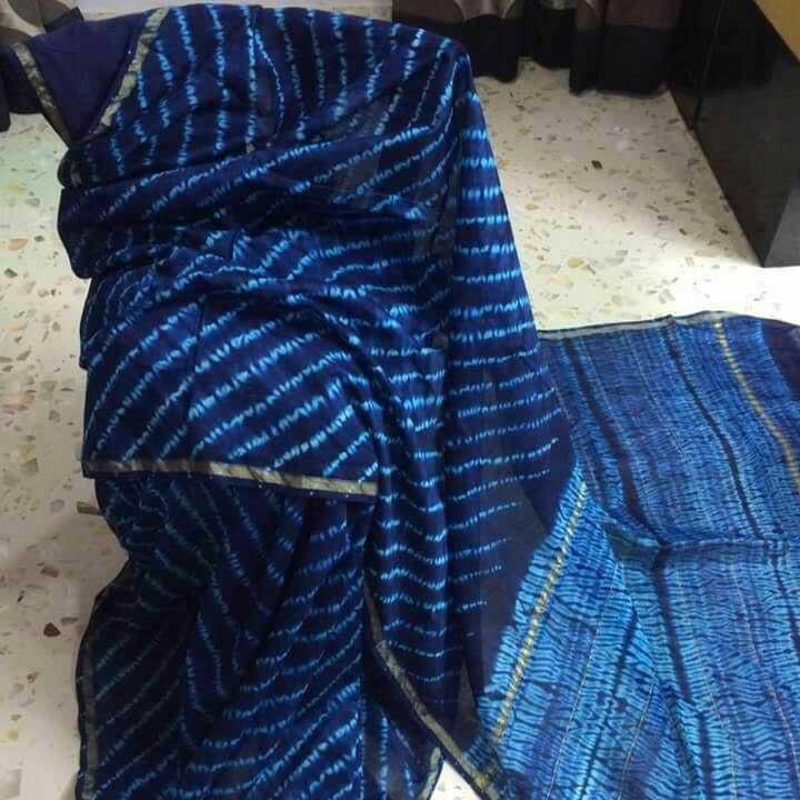 Silk cotton shibori sarees with blouse piece