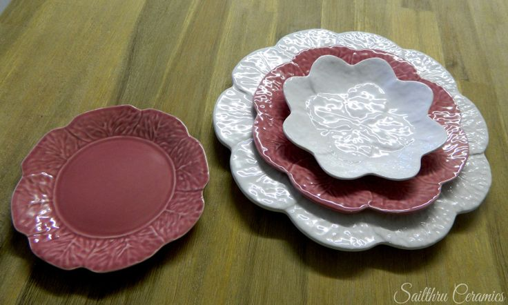 Pink and white Cabbage-Ware