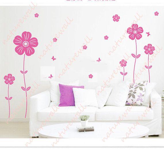 Flower Wall Decals Tree Decals Baby Nursery Kids Room