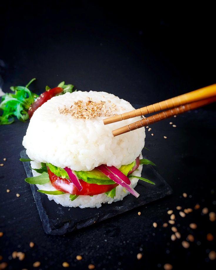 Un sushi burger vegan et gluten free
