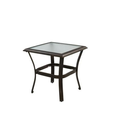 Hampton Bay Altamira 22 In Square Patio Side Table D9976 Ts At The Home Depot Patio