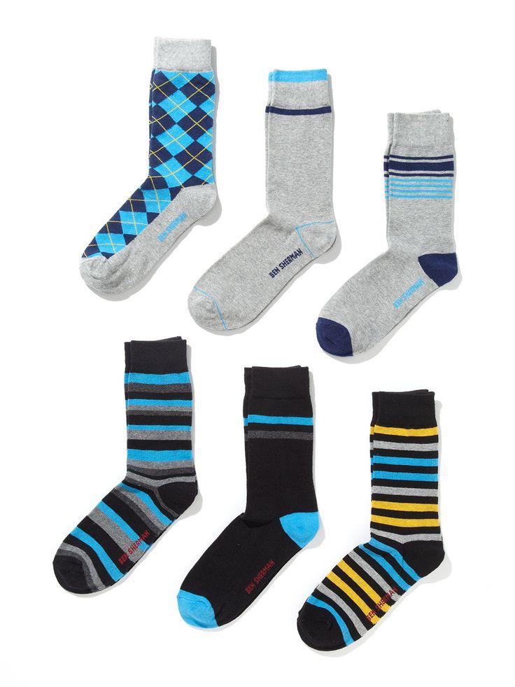 Winston Benjamin Socks (6 Pack) by Ben Sherman