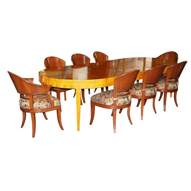 Fabulous 9 Pc Art Deco Dining Set With Beautiful Style