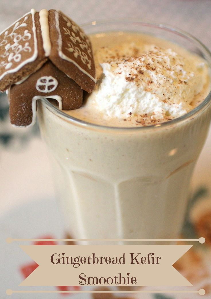 This Gingerbread Kefir Smoothie is a wonderful way to start your mornings during this holiday season! It's festive and full of minerals and probiotics!
