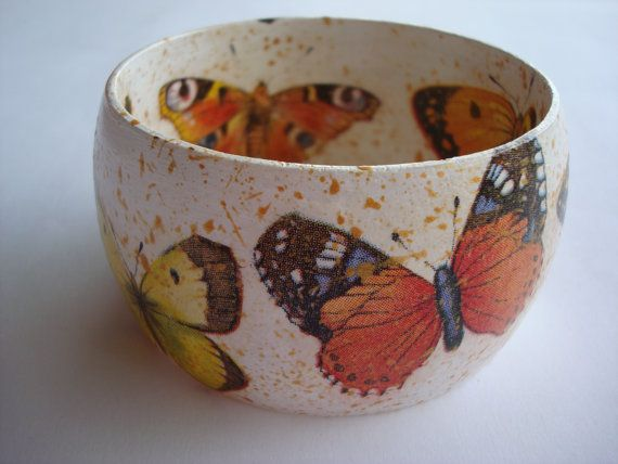 Colourful Butterfies Bracelet Butterfies by Valelval on Etsy