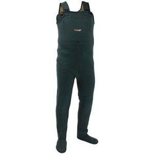 frogg toggs Amphib Neoprene Stockingfoot Chest Waders. Because you're not going to duck hunt for long if you're not comfortable. A good pair of duck hunting waders should keep you warm and dry -- even in extreme conditions. The Amphib bib-style Wader is designed to keep you in the field. When you need more than just waterproof protection in your waders. The 3.5mm neoprene upper with hi-back upper design is great for deep wading or float tube use.