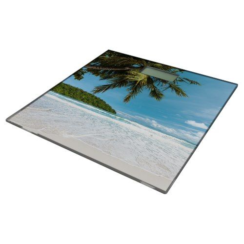 Tropical Palm Beach Bathroom Scale
