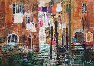 Artist: Mike Bernard; Painting: Washing, Venice