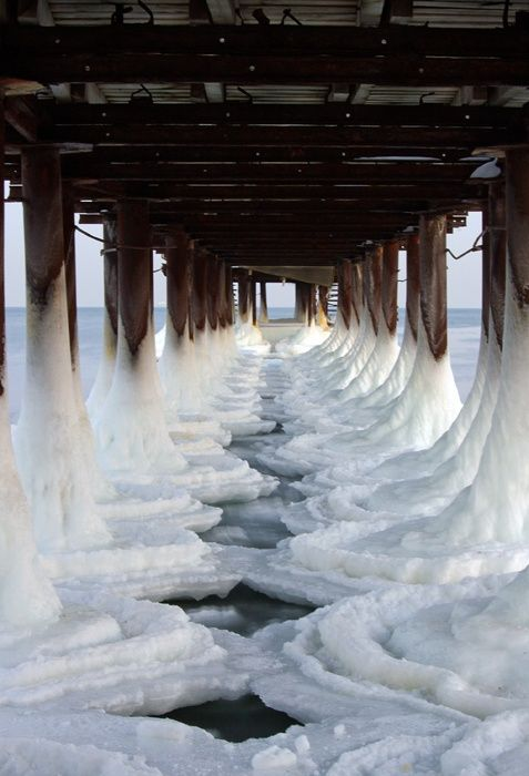 Ice Pier, Black Sea, Ukraine  photo via rachel