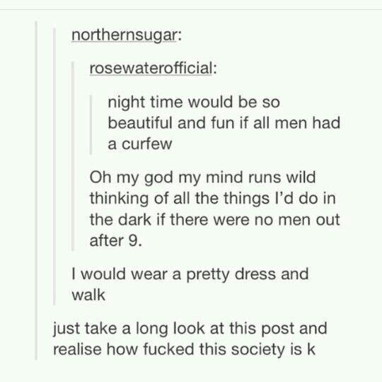 Aber wie wäre es mit der Tatsache, dass Frauen auch andere Frauen und Männer vergewaltigen, warum nicht?