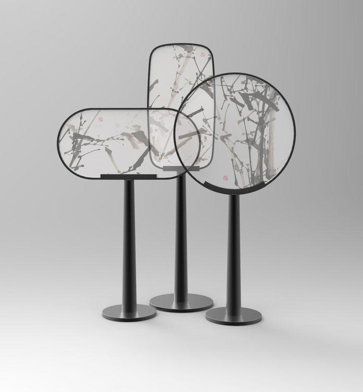 Transparent Acrylic Metal Screen Luxury Zen Style Floriculture Tea Ceremony  装饰 陶瓷 书法 摆件 屏风 鸟
