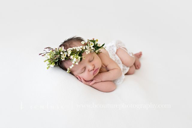 Natural, Organic Newborn Photography Floral Crown B Couture Photography