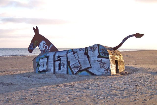 Abandoned Bunker Turned into Clever Equine Art Installation