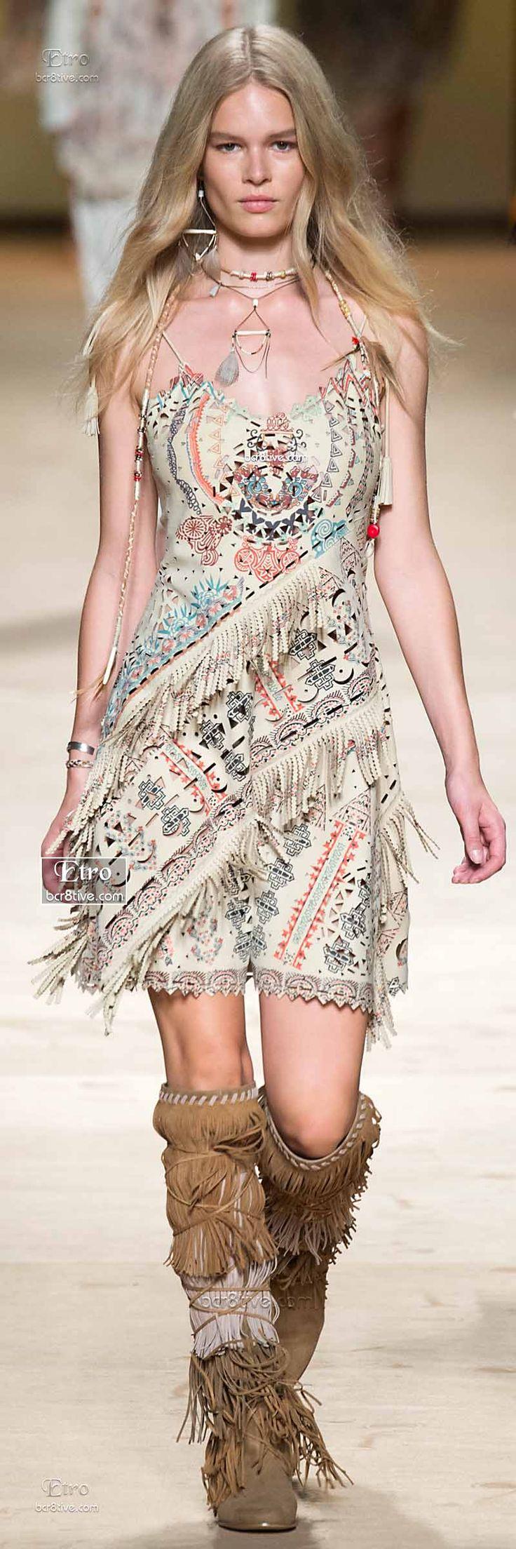 Native American Inspired Fringe Dress & Knee High Moccasins