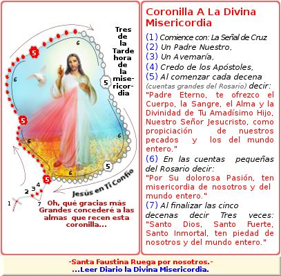 coronilla a la divina misericordia para conseguir grandes gracias