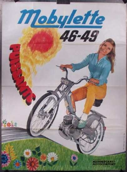 """Mobylette Moped Poster - """"Powerful!"""""""