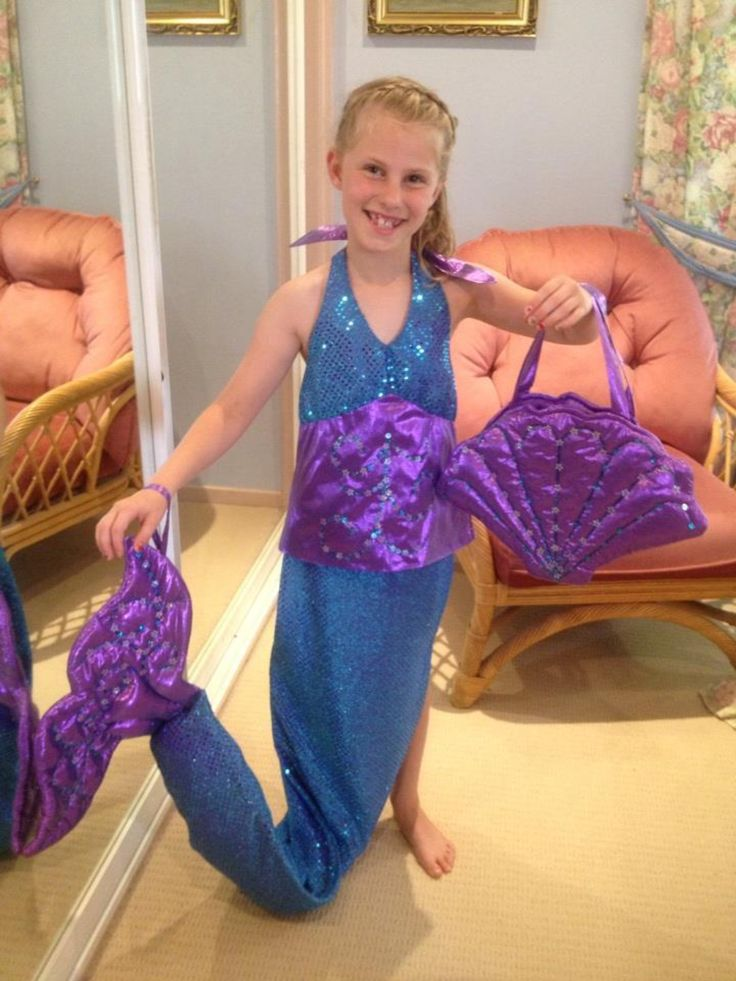 Mermaid outfit I made for Grace